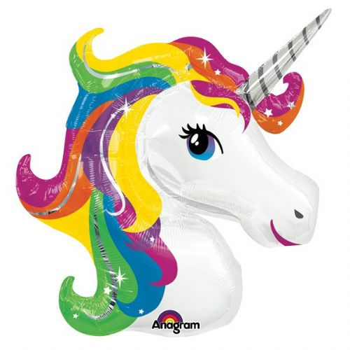 Birthday or Pony Party - Unicorn Rainbow SuperShape Balloon